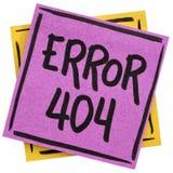 Fel 404 - inte-funnen sida Arkivbilder