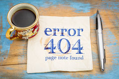 Fel 404 - inte-funnen sida Royaltyfri Foto