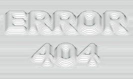 fel 404 randig vektor för bakgrund Abstrakta gråtonvågor Svängning för solid våg Skraj krullade linjer stock illustrationer