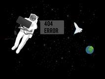 Fel 404 som är borttappat i utrymme Royaltyfri Fotografi