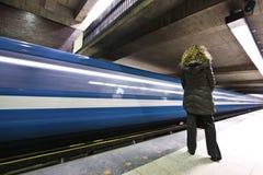 felande gångtunnel Royaltyfria Bilder