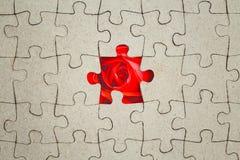 felande styckpussel för jigsaw Abstrakt begrepp royaltyfria bilder