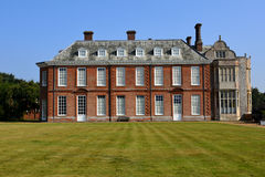 Felbrigg Hall, Norfolk, England. Rear of Felbrigg Hall, Norfolk and lawn Royalty Free Stock Photo