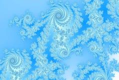 Felci astratte del ghiaccio/finestra gelida russa/tradizione russa per tessuto illustrazione di stock