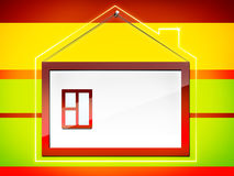 Feld â Haus Stockfoto
