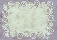 Feld auf altem Papier Stockbilder