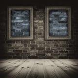 Feld auf der Wand. Stockbilder