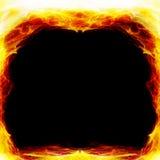 Feld auf Feuer Stockbilder