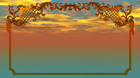 Feld auf Sonnenuntergang Stockfotos