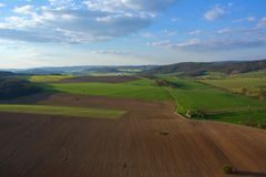 Feld auf Tschechisch Stockbilder