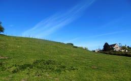 Feld bei Crookham, Northumberland, England Lizenzfreies Stockfoto