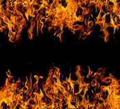 Feld der Feuerflammen Lizenzfreie Stockbilder