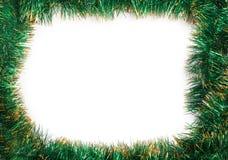 Feld der grünen Weihnachtsgirlande Lizenzfreies Stockbild
