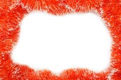 Feld der orange Weihnachtsgirlande Lizenzfreies Stockbild