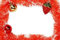 Feld der orange Weihnachtsgirlande mit Weihnachten spielt Stockbilder