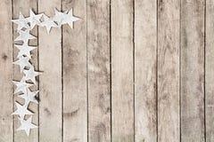 Feld der Sterne auf Holz Lizenzfreie Stockbilder