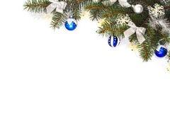 Feld der Weihnachtsdekorationen Stockfoto