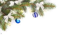 Feld der Weihnachtsdekorationen Stockfotografie