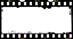 Feld des Filmes, grungy Panorama stock abbildung