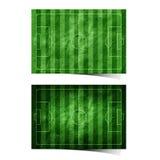 Feld des Grunge Fußballs (Fußball) bereitete Papier auf Stockfoto