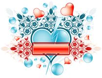 Feld des Valentinsgrußes stock abbildung