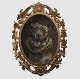 Feld eines Hundes im Renaissancestil stockfotos
