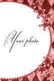 Feld für Foto mit Blumen Stockfoto
