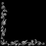 Feld für Ihr Design - Schwarzweiss-Nadelstreifen vektor abbildung