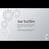 Feld für Text mit elegantem abstraktem Blumenmotiv Lizenzfreie Stockfotos