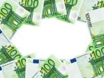 Feld gebildet vom Geld Stockfotografie