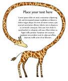 Feld gebildet vom Giraffestutzen. Vektor Abbildung
