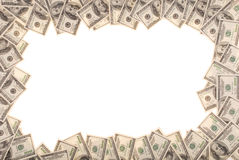 Feld gebildet von den Dollarscheinen Stockfotografie