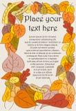 Feld gebildet von den Herbstblättern Stock Abbildung