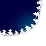 Feld gebildet von den weißen Weihnachtsbäumen Lizenzfreie Stockfotos