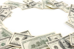 Feld gebildet worden von den Dollarscheinen Stockfotos