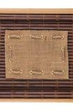 Feld gemacht von der Leinwand, die auf einer Bambusmatte in Form von Manuskript liegt Lizenzfreie Stockfotos