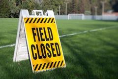 Feld geschlossen Lizenzfreie Stockbilder
