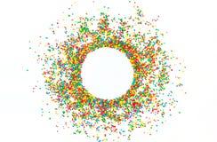 Feld, Hintergrund für das Schreiben des Textes von den mehrfarbigen Bällen stockfotos
