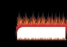 Feld im Feuer Stockbild