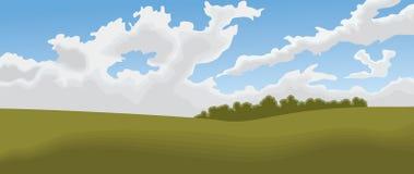 Feld-Landschaft Lizenzfreies Stockbild