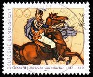 Feld-Marschall BlÃ-¼ Cher (nach Simon Meister), ¼ Gebhard Leberechts von Blà Cher (1742-1819) serie, circa 1992 lizenzfreie stockfotos