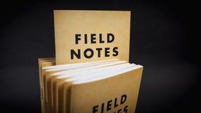 Feld merkt Notizbücher Stockbilder