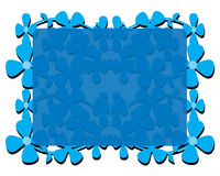Feld mit blauen Blumen Stockfoto