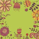 Feld mit Blumen Lizenzfreie Stockfotos