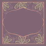 Feld mit Blumen. Vektorillustration. Stockfotografie