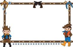 Feld mit Cowboys Lizenzfreie Stockfotos