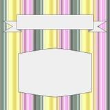 Feld mit einem Hintergrund von Streifen in den Pastellfarben Lizenzfreie Stockfotos