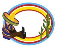 Feld mit einem Mexikaner Lizenzfreie Stockfotografie