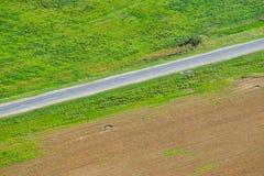 Feld mit einer Vogel ` Saugenansicht Stockfoto
