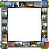 Feld mit Filmen der Reisenbilder Lizenzfreie Stockfotografie